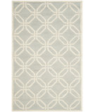 RugStudio presents Safavieh Cambridge Cam311l Light Grey / Ivory Hand-Tufted, Better Quality Area Rug