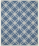 RugStudio presents Safavieh Cambridge Cam311m Navy / Ivory Hand-Tufted, Better Quality Area Rug