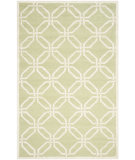 RugStudio presents Safavieh Cambridge Cam311n Lime / Ivory Hand-Tufted, Better Quality Area Rug