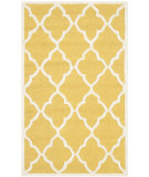 RugStudio presents Safavieh Cambridge Cam312q Gold / Ivory Hand-Tufted, Better Quality Area Rug