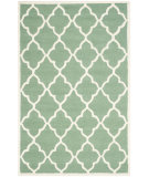 RugStudio presents Safavieh Cambridge Cam312t Teal / Ivory Hand-Tufted, Better Quality Area Rug