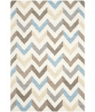 RugStudio presents Safavieh Cambridge Cam580b Ivory / Grey Hand-Tufted, Better Quality Area Rug