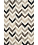 RugStudio presents Safavieh Cambridge Cam580c Ivory / Black Hand-Tufted, Better Quality Area Rug
