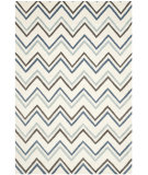 RugStudio presents Safavieh Cambridge Cam581a Ivory / Blue Hand-Tufted, Better Quality Area Rug