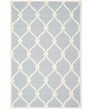 RugStudio presents Safavieh Cambridge Cam710b Blue / Ivory Hand-Tufted, Good Quality Area Rug