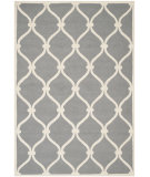 RugStudio presents Safavieh Cambridge Cam710d Dark Grey / Ivory Hand-Tufted, Good Quality Area Rug