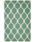 RugStudio presents Safavieh Cambridge Cam710t Teal / Ivory Hand-Tufted, Good Quality Area Rug