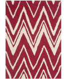 RugStudio presents Safavieh Cambridge Cam711h Red - Ivory Hand-Tufted, Good Quality Area Rug
