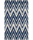 RugStudio presents Safavieh Cambridge Cam711m Navy - Ivory Hand-Tufted, Good Quality Area Rug