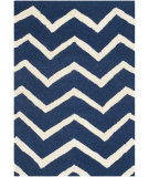 RugStudio presents Safavieh Cambridge Cam714m Navy - Ivory Hand-Tufted, Good Quality Area Rug