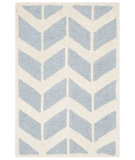RugStudio presents Safavieh Cambridge Cam718b Blue - Ivory Hand-Tufted, Better Quality Area Rug