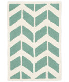 RugStudio presents Safavieh Cambridge Cam718t Teal - Ivory Hand-Tufted, Better Quality Area Rug