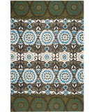 RugStudio presents Safavieh Cedar Brook Cdr127b Green / Teal Flat-Woven Area Rug
