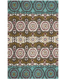 RugStudio presents Safavieh Cedar Brook Cdr127k Turquoise / Burgundy Flat-Woven Area Rug