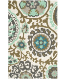 RugStudio presents Safavieh Cedar Brook Cdr132g Turquoise Flat-Woven Area Rug