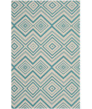 RugStudio presents Safavieh Cedar Brook Cdr142a Ivory / Light Teal Woven Area Rug
