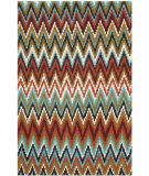 RugStudio presents Safavieh Cedar Brook Cdr145b Teal / Red Woven Area Rug