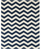 RugStudio presents Safavieh Chatham CHT715C Dark Blue / Ivory Hand-Tufted, Good Quality Area Rug