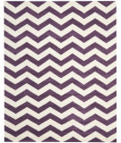 RugStudio presents Safavieh Chatham CHT715F Purple / Ivory Hand-Tufted, Good Quality Area Rug