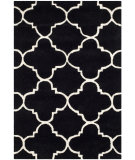 RugStudio presents Safavieh Chatham Cht717k Black / Ivory Hand-Tufted, Better Quality Area Rug