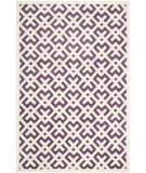 RugStudio presents Safavieh Chatham Cht719f Purple / Ivory Hand-Tufted, Better Quality Area Rug
