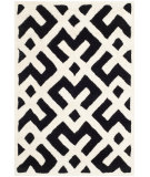 RugStudio presents Safavieh Chatham Cht719k Black / Ivory Hand-Tufted, Good Quality Area Rug