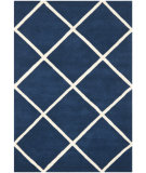 RugStudio presents Safavieh Chatham Cht720c Dark Blue / Ivory Hand-Tufted, Better Quality Area Rug