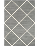 RugStudio presents Rugstudio Sample Sale 94192R Dark Grey / Ivory Hand-Tufted, Better Quality Area Rug