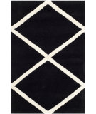 RugStudio presents Safavieh Chatham Cht720k Black / Ivory Hand-Tufted, Good Quality Area Rug