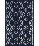 RugStudio presents Safavieh Chatham Cht723c Dark Blue / Ivory Hand-Tufted, Better Quality Area Rug