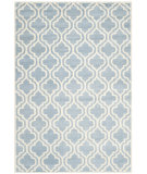 RugStudio presents Safavieh Chatham Cht727b Blue / Ivory Hand-Tufted, Better Quality Area Rug