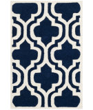 RugStudio presents Safavieh Chatham Cht727c Dark Blue / Ivory Hand-Tufted, Good Quality Area Rug