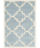 RugStudio presents Safavieh Chatham Cht730b Blue / Ivory Hand-Tufted, Better Quality Area Rug