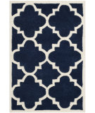 RugStudio presents Safavieh Chatham Cht730c Dark Blue / Ivory Hand-Tufted, Better Quality Area Rug