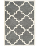 RugStudio presents Rugstudio Sample Sale 94211R Dark Grey / Ivory Hand-Tufted, Better Quality Area Rug