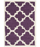 RugStudio presents Safavieh Chatham Cht730f Purple / Ivory Hand-Tufted, Better Quality Area Rug