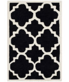 RugStudio presents Safavieh Chatham Cht730k Black / Ivory Hand-Tufted, Better Quality Area Rug