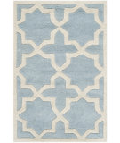 RugStudio presents Safavieh Chatham Cht732b Blue / Ivory Hand-Tufted, Better Quality Area Rug