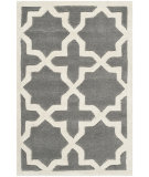 RugStudio presents Safavieh Chatham Cht732d Dark Grey / Ivory Hand-Tufted, Better Quality Area Rug