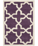 RugStudio presents Safavieh Chatham Cht732f Purple / Ivory Hand-Tufted, Better Quality Area Rug