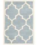 RugStudio presents Safavieh Chatham Cht733b Blue / Ivory Hand-Tufted, Better Quality Area Rug