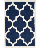 RugStudio presents Safavieh Chatham Cht733c Dark Blue / Ivory Hand-Tufted, Better Quality Area Rug