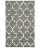 RugStudio presents Rugstudio Sample Sale 94226R Dark Grey / Ivory Hand-Tufted, Better Quality Area Rug