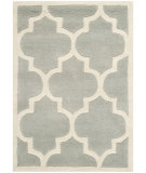 RugStudio presents Safavieh Chatham Cht733e Grey / Ivory Hand-Tufted, Better Quality Area Rug