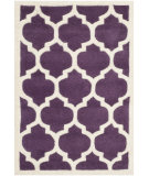 RugStudio presents Safavieh Chatham Cht733f Purple / Ivory Hand-Tufted, Better Quality Area Rug