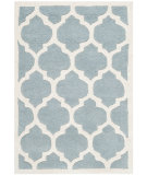RugStudio presents Safavieh Chatham Cht734b Blue / Ivory Hand-Tufted, Better Quality Area Rug