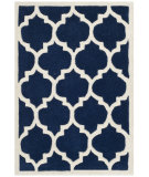 RugStudio presents Safavieh Chatham Cht734c Dark Blue / Ivory Hand-Tufted, Better Quality Area Rug