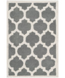 RugStudio presents Safavieh Chatham Cht734d Dark Grey / Ivory Hand-Tufted, Better Quality Area Rug