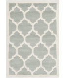 RugStudio presents Safavieh Chatham Cht734e Grey / Ivory Hand-Tufted, Better Quality Area Rug
