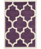 RugStudio presents Safavieh Chatham Cht734f Purple / Ivory Hand-Tufted, Better Quality Area Rug